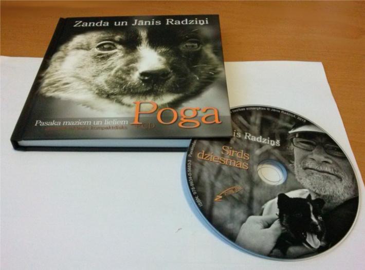 Grāmata un tajā iekļautais CD - Sirds dziesmas.